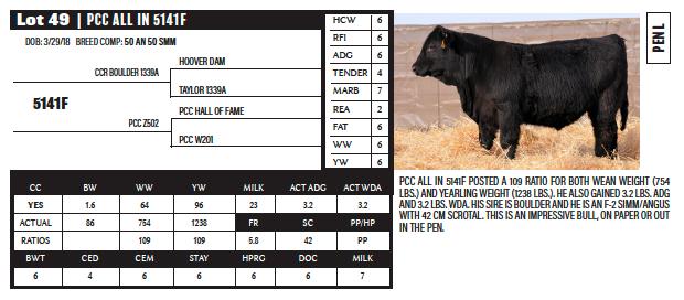 Lots 49-52 Poppe Cattle Co 2019 Poppe Cattle Co 2019